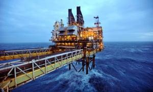 A BP rig in the North Sea.