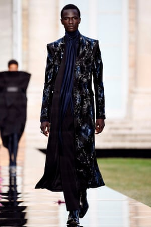 A model presents a creation at Givenchy's autumn 2018 show