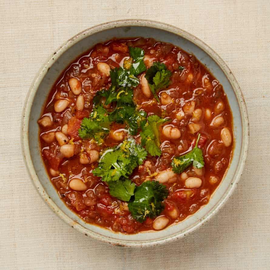 Meera's Iraqi white bean stew, also known as fasoulia.