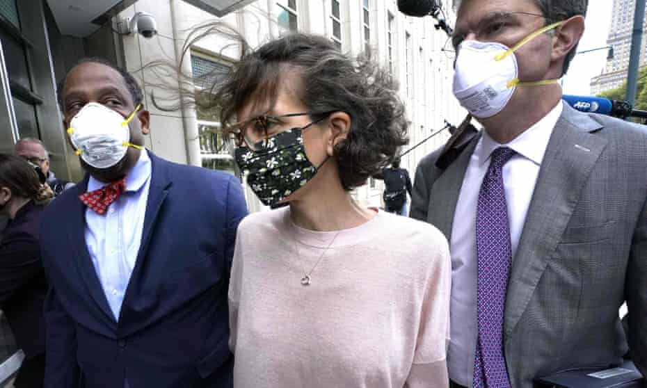 Clare Bronfman arrives at court in Brooklyn, New York, on 30 September.