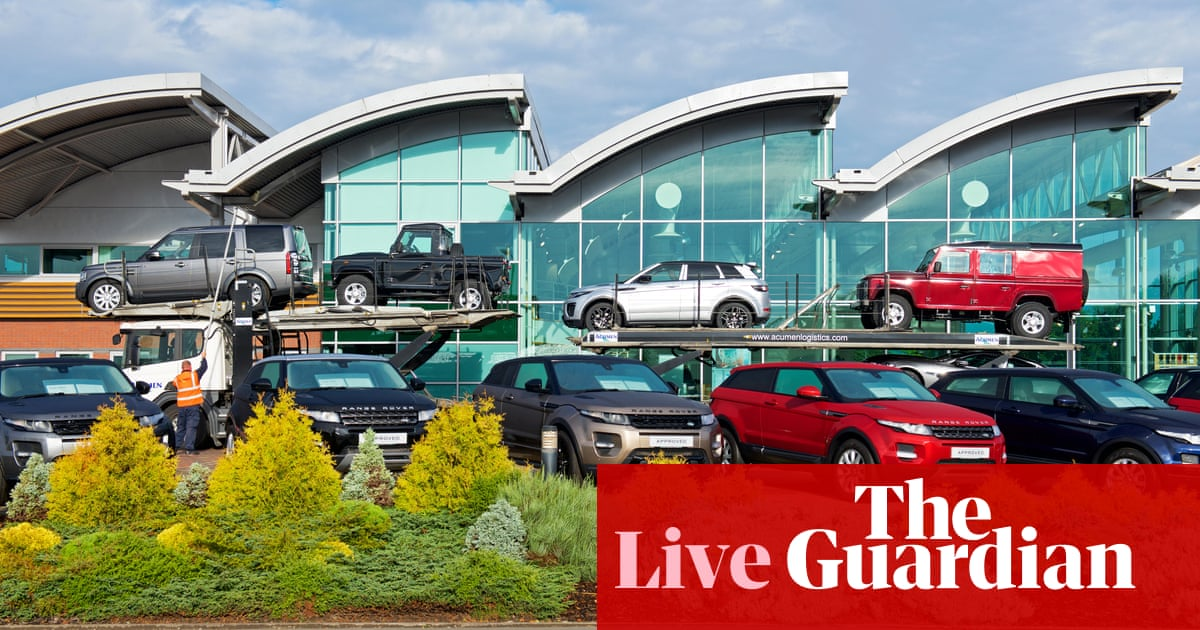 UK new car sales tumble in September amid chip shortages – business live