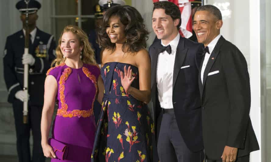 The Obamas welcomed Canadian leader, Justin Trudeau, and his wife, Sophie Gregoire, to a state dinner earlier this year.