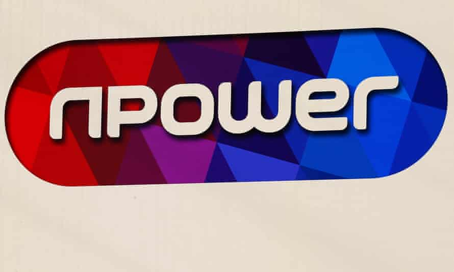A sign hangs outside an npower building