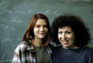 My So-Called Life … Claire Danes, who played Angela, with executive producer Winnie Holzman