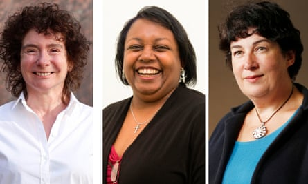 (from left) Jeanette Winterson, Malorie Blackman and Joanne Harris.