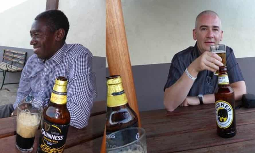 Steve Lancaster and Anthony Gachanja in Nairobi 28 years after their friendship began.