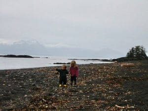 Cora Dow as a child in Alaska, with her brother.