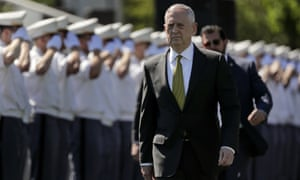 """Secretary of Defense James Mattis, shown Saturday at the military academy West Point, said Sunday that the US planned to """"accellerate the campaign against Isis""""."""