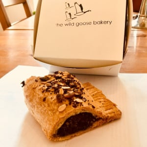 Grace Dent's week in other dishes: The vegan haggis roll at The Wild Goose Bakery, Leytonstone, filled with a traditional Scottish blend of mushroom, herbs, rice and miso.