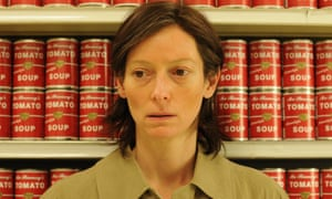 Tilda Swinton as Eva in the film version of We Need To Talk About Kevin.