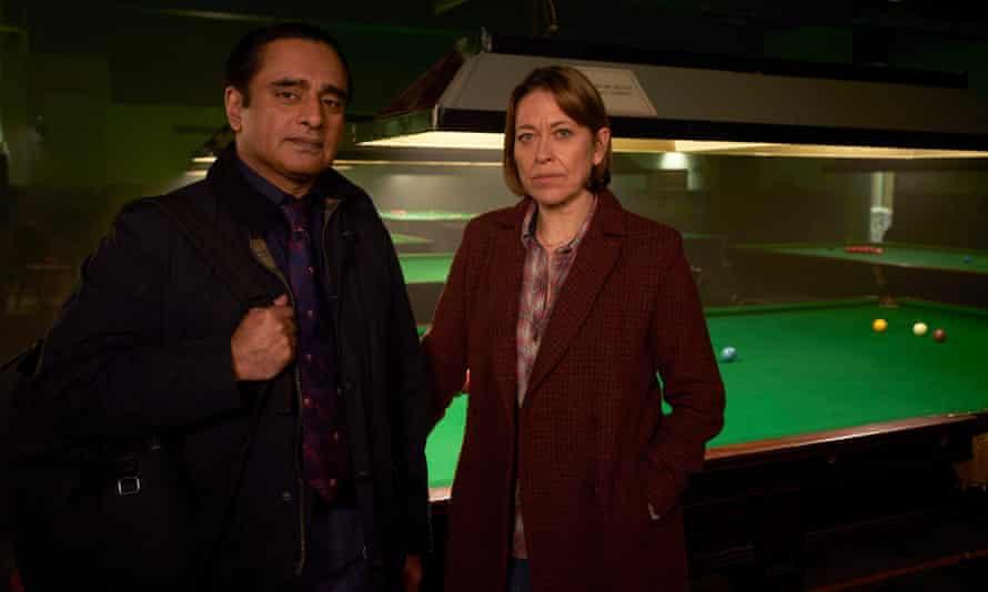 The mountain of the cold case… Sanjeev Bhaskar and Nicola Walker in Unforgotten.