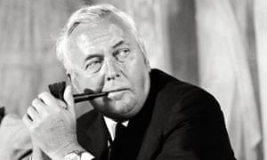 Harold Wilson, chairman of the British Labour Party at the meeting of the International Socialists in Salzburg, Austria, 1971.