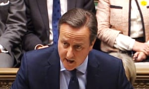 David Cameron addresses the Commons, as he lays out his case for staying in the European Union