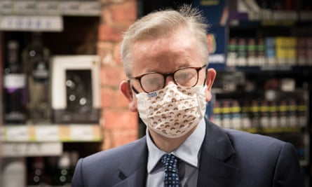 Michael Gove wearing a face mask.