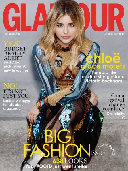 Glamour, with Chloë Grace Moretz.