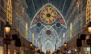 Avenue of light: Calle Larios at Christmas, in the centre of Malaga.
