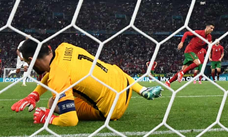 Ronaldo scored twice from the penalty spot.