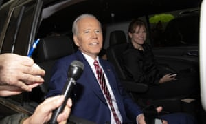 Joe Biden in New York on Friday. His campaign has raised $6.3m in the first 24 hours since his announcement.