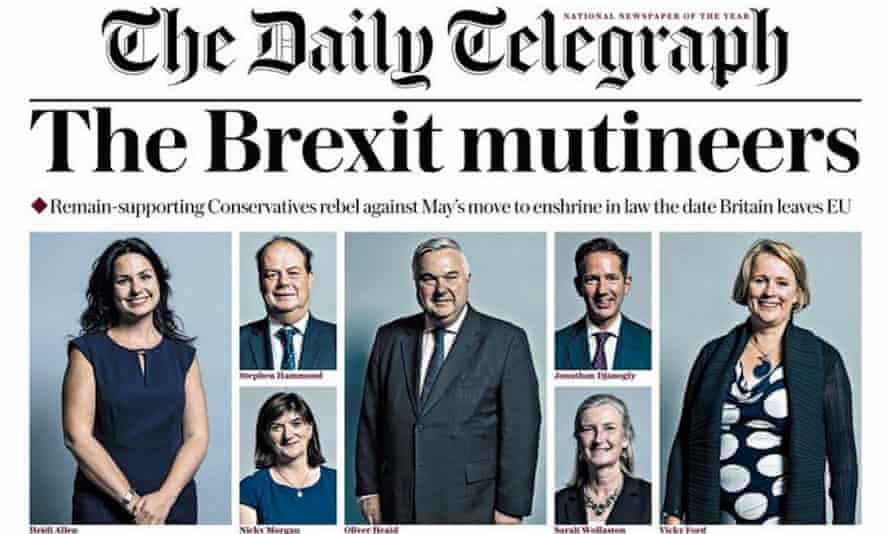 The Daily Telegraph's front page last week