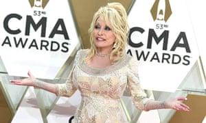 Dolly Parton at the CMA awards in Nashville on 13 November 2019.