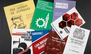 A selection of pamphlets that form part of the Tony Benn archive allocated to the British Library.