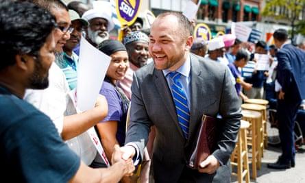 Corey Johnson, 37, is considering a run for mayor of New York.