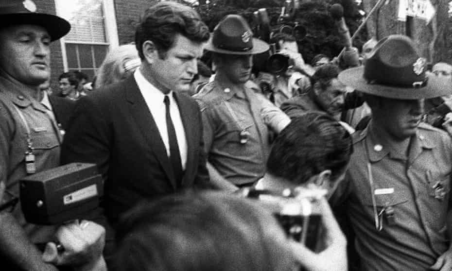 Edward Ted Kennedy after being charged over the Chappaquiddick incident