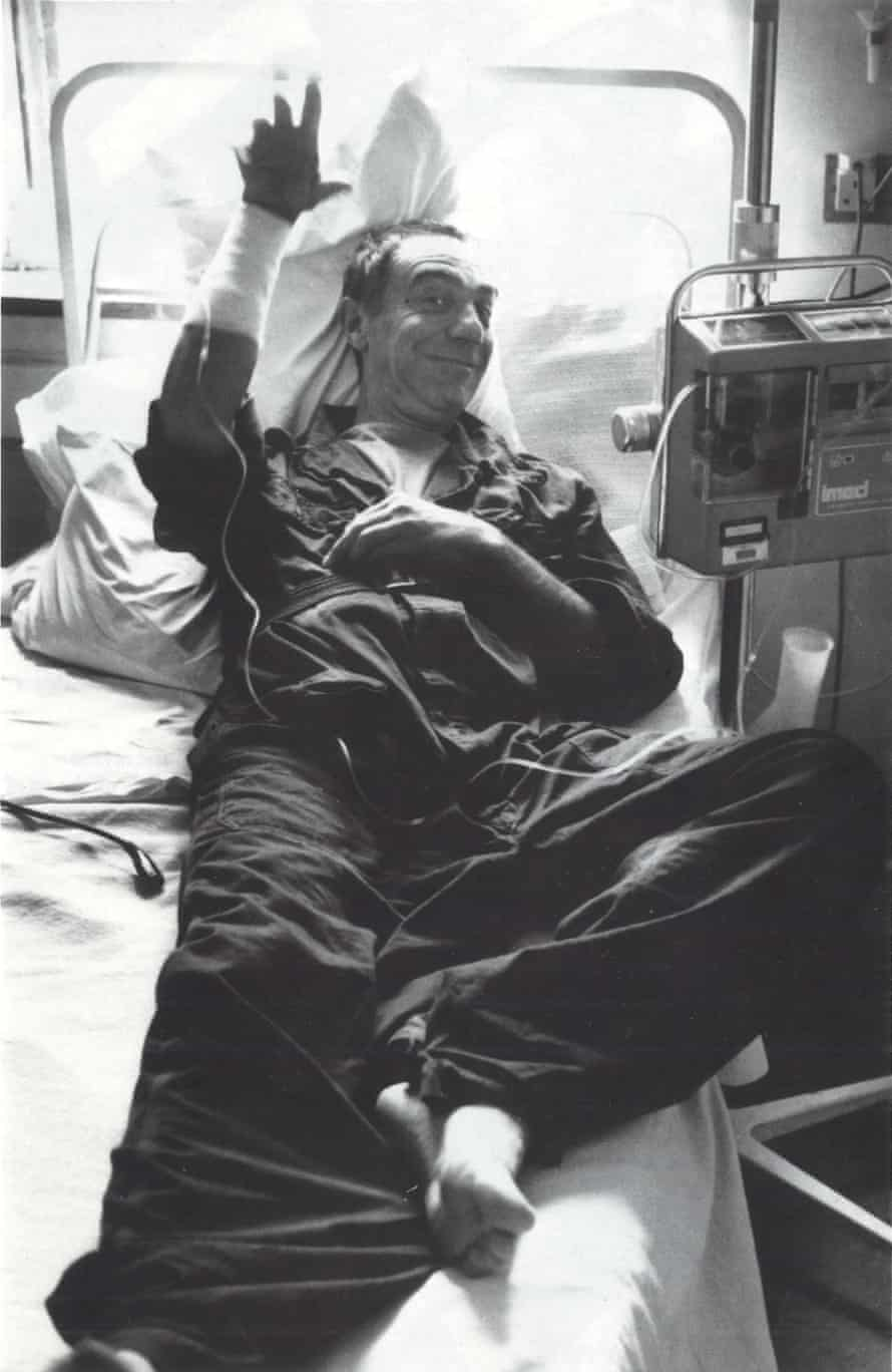 His hospital diaries are remarkable for their cheer, despite what was plainly agony and terror