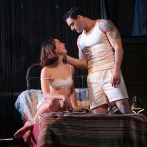Rebecca Hall and Morgan Spector in Machinal on Broadway, 2013.