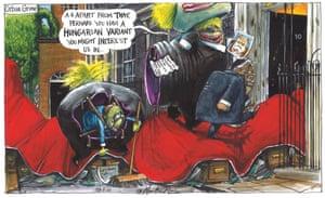 Martin Rowson cartoon, 29.05.2021: Tories welcome Viktor Orbán to No 10