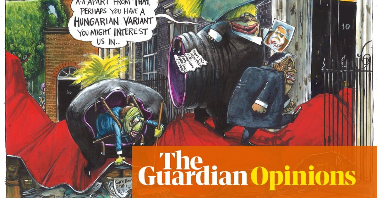 Martin Rowson on Boris Johnson hosting Viktor Orbán at No 10 – cartoon