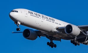 An Air New Zealand Boeing plane