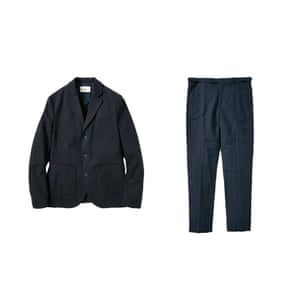Navy blazer and trousers from Folk clothing