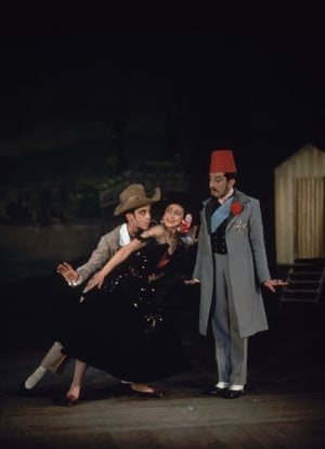Margot Fonteyn in Les Sirènes in 1946, with Robert Helpmann and Frederick Ashton. Cecil Beaton designed the costumes and the sets.