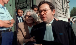 Fernande Grudet, then aged 68, leaves a Paris court in 1987.