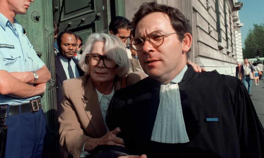Fernande Grudet, then aged 68, leaves a Paris court in 1987.