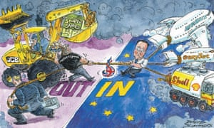 Cameron's tug of war over Brexit, as seen by David Simonds