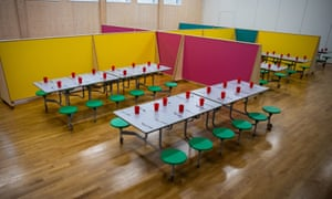 A school lunch hall