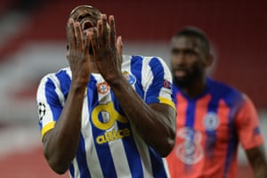 Moussa Marega rues his miss.