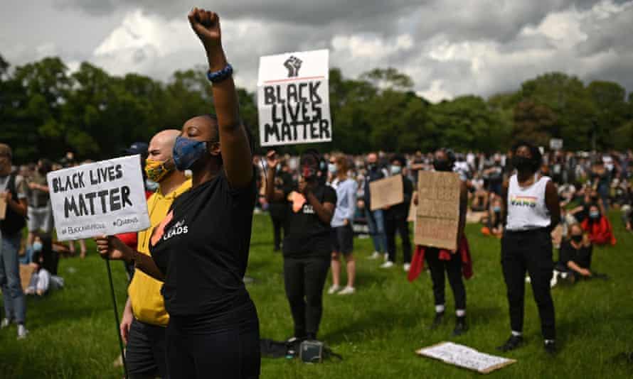 A Black Lives Matter protest in Leeds in June 2020