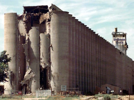 The DeBruce Grain elevator. Federal safety inspectors had not visited it for 16 years when an explosion ripped through the half-mile long structure killing seven workers.