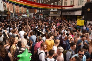An Old Compton Street crowd starts the after-party