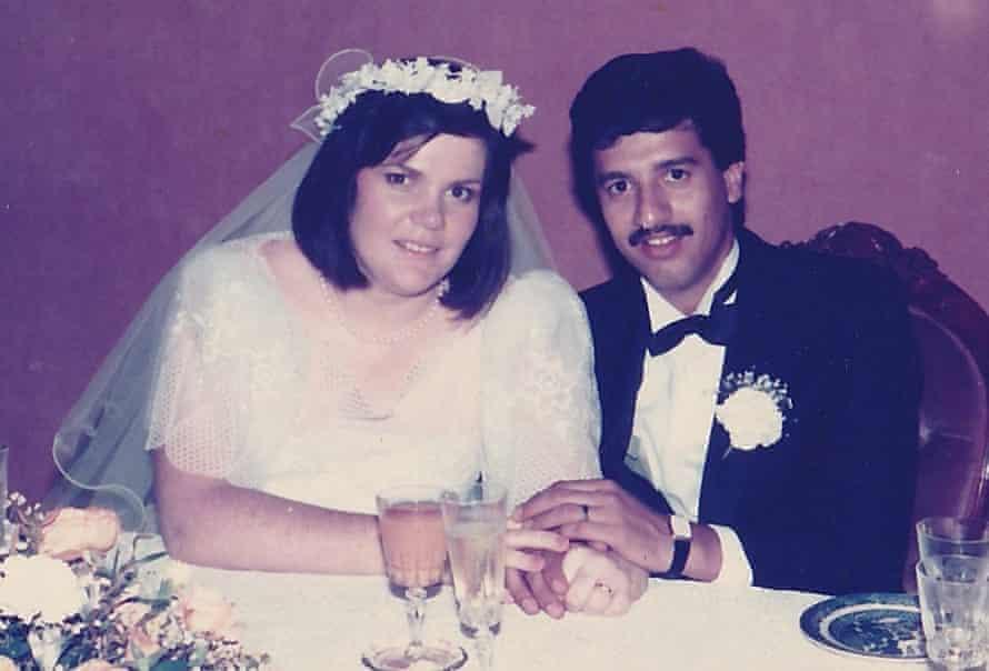 Liz and Morteza Goli on their Wedding Day