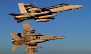 F/A-18A Hornets in the skies over Iraq