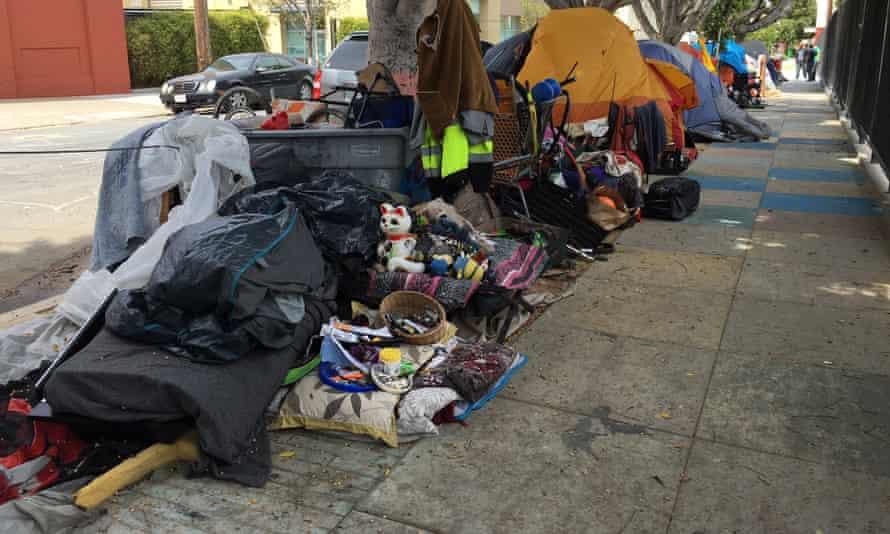 San Francisco's Mission district encampment