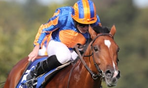 Mogul, ridden by Ryan Moore and favourite for the Vertem Futurity, wins the KPMG Champions Juvenile Stakes at Leopardstown in September.