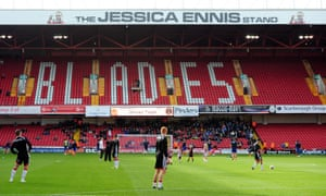 The Jessica Ennis Stand at Bramall Lane.