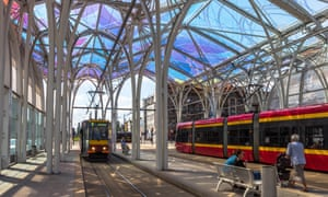 Piotrkowska Centrum tram station, Lodz, Poland.