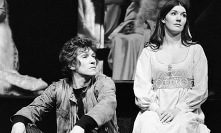 Ian McKellan as Hamlet and Susan Fleetwood who played Ophelia in a 1971 production of the play.