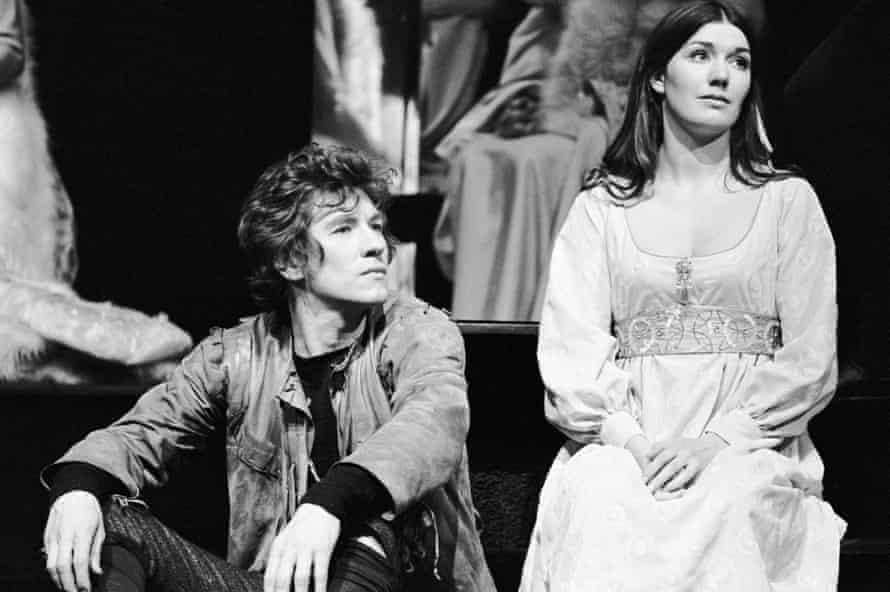 Ian McKellen (Hamlet), Susan Fleetwood (Ophelia) in Hamlet, directed by Robert Chetwyn for the Prospect Theatre Company in 1971.